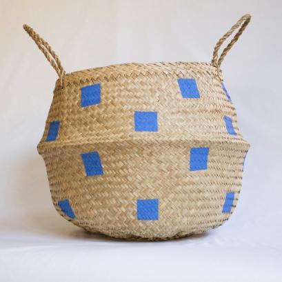 Squares Light Blue Basket