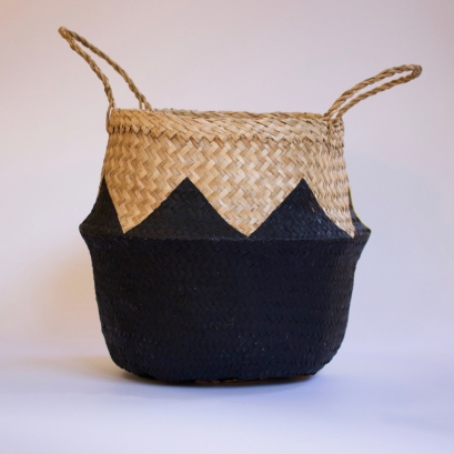ZigZag Black Basket