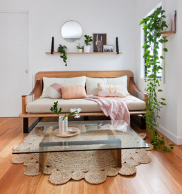 Shelves, Custom Day Bed & Coffee Table
